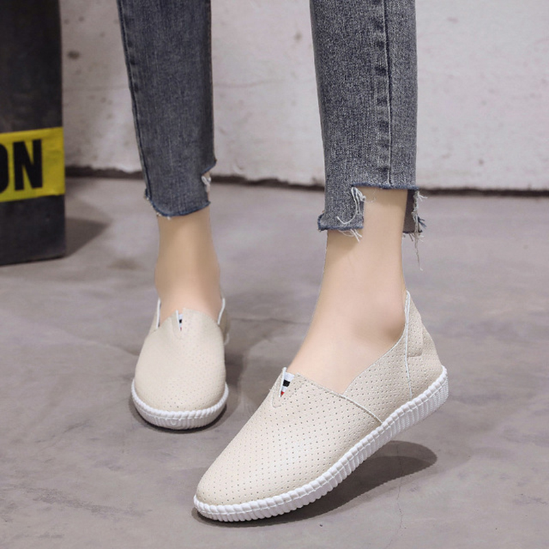 Breathable Women Casual Shoes Walking Shoes Girl Sneaker Chaussure Femme Pink Khaki Sneakers Hole Zapatos De Mujer royyna new cute design women sneakers shoes flower femme casual shoes mesh lady flats outdoor chaussure femme zapatos mujer