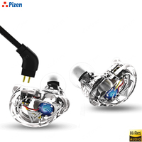 Pizen VK1 In Ear Earphone HIFI DJ Monitor Running Sport Earplug Headset earbuds With 0.75MM 2PIN cable qkz zs10 trn v10 style