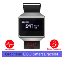 CK12 graphene smart watch  ECG heart rate blood pressure sleep monitoring smart wristbands for android ios pedometer sport watch
