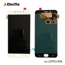 ФОТО supper amoled oled replacement for oppo r9s lcd display touch screen without frame digitizer assembly original 1920*1080 white