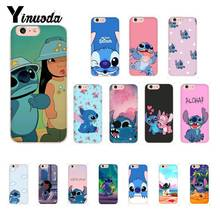 Yinuoda Cartoon Lilo Stitch Novelty TPU Phone Case Cover Shell for iPhone X XS MAX 6 6S 7 7plus 8 8Plus 5 5S XR 10 Case