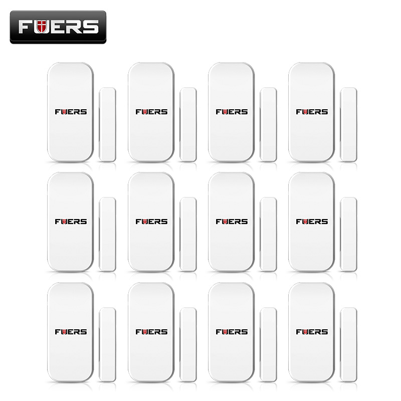 FUERS 433MHZ Wireless Window Door Security Smart Door Sensor for G18 G19 W1 W2 Home Security WIFI GSM 3G GPRS Alarm System new 433mhz wireless door window sensor for gsm pstn home alarm system home security voice burglar smart alarm system