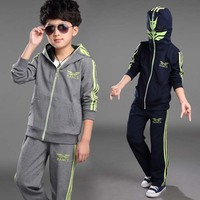 Spiderman Children Boys Suits Clothing Baby Boy Spider Man Sports Set 2 6 Years Kids 2pcs