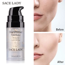 SACE LADY Primer Makeup Oil Control Matte Make Up Face Base Cream 24K Gold Professional Pores Foundation Cosmetic