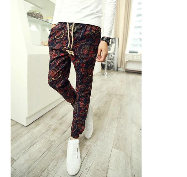 patterned linen pants - Pi Pants