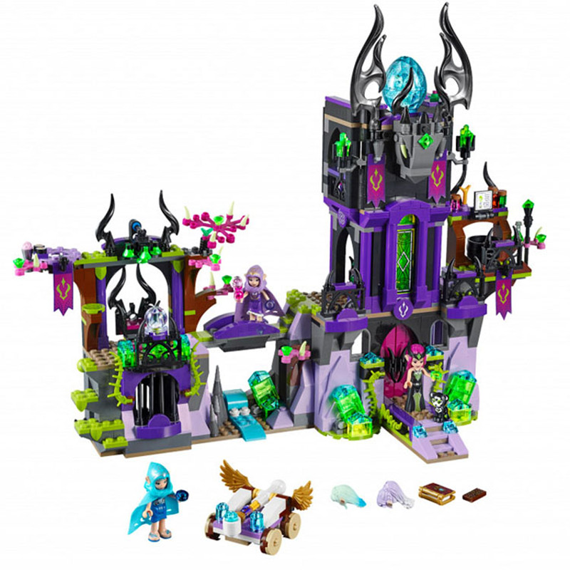 Bela Diy Elves Compatible playmobil Raganas Magical Shadow Castle 41180 Wizard Series Blocks Bricks Toys for children birthday