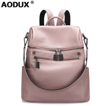 Fast Shipping 100% Genuine Cow Leather Women Travel Backpack Bags First Layer Cowhide Girl Female Silver White Rucksack Mochila genuine leather women s shopping backpacks ladies daily cowhide backpack female girl s school shoulder bag rucksack mochila
