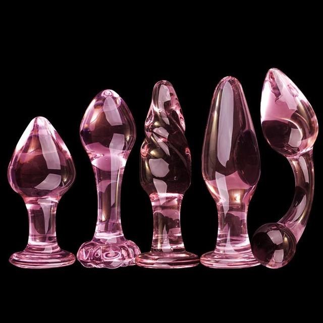 DINGYE Anal Sex Toy Butt Plug Glass Dildo Anal Sex Product for Women
