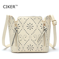 CIKER Famouse brands new women leather handbags fashion hollow bucket bag summer style women bag high quality bolsa feminina hot