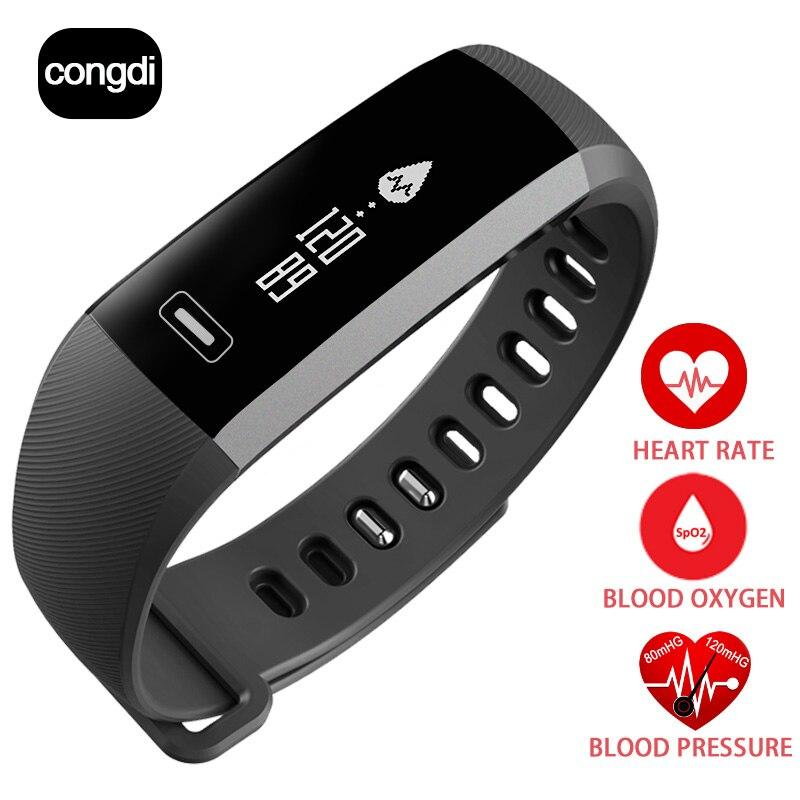Original CONGDI R5 pro Smart wrist Band Heart rate monitor Blood Pressure Oxygen Oximeter Sport Bracelet