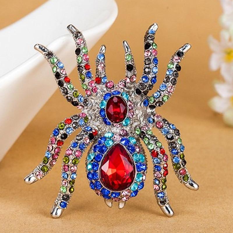 Luxury Brand Үлкен Үлкен Spider Brooches Fashion Steampunk - Сәндік зергерлік бұйымдар - фото 4