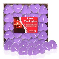 50pcs Scented Candles Cute Heart Shaped Candles Romantic Valentine S Day Gift Romantic Candle Marriage Wedding