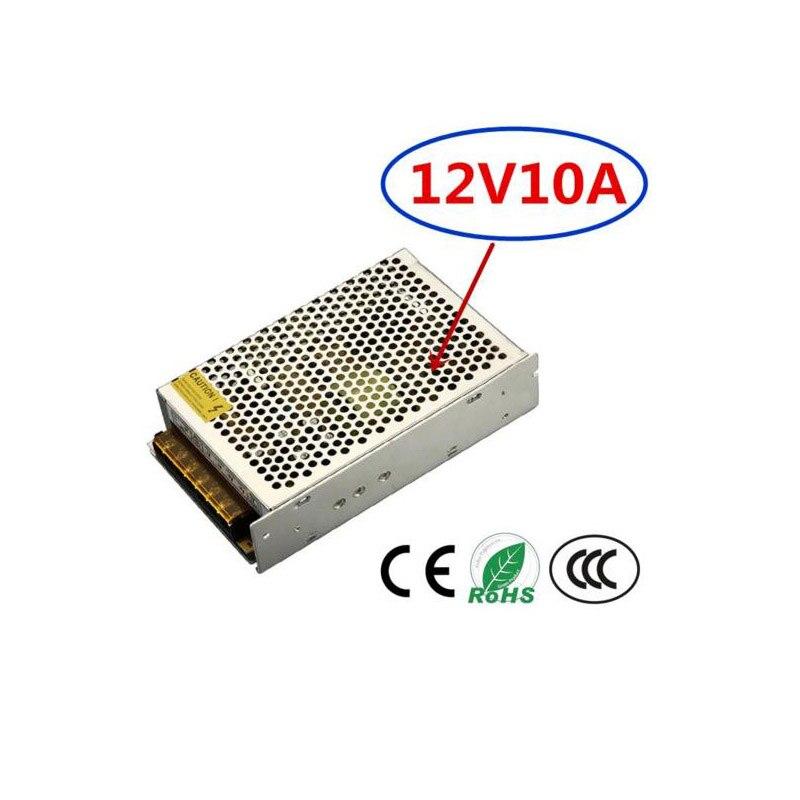 Transformador de iluminación DC12V adaptador de potencia del conductor LED 10A para interruptor de tira de luz LED fuente de alimentación 120W Controlador cree XHP70 6v 5 modo dia26mm input7-18v output6V 4A controlador de linterna Led de corriente constante