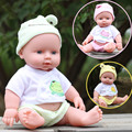 28 cm muñeca Rotomoldeado PVC muñecas juguete del baño del bebé muñecas Realistas Acompañar agua activada por voz cinturón Muñeca de Juguete
