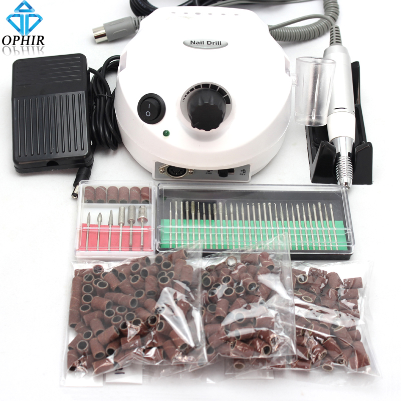 OPHIR Pro 30000RPM Electric Nail Drill Machine Pedicure Manicure Nail Drill Kit 30x Bits 300x Degree 80