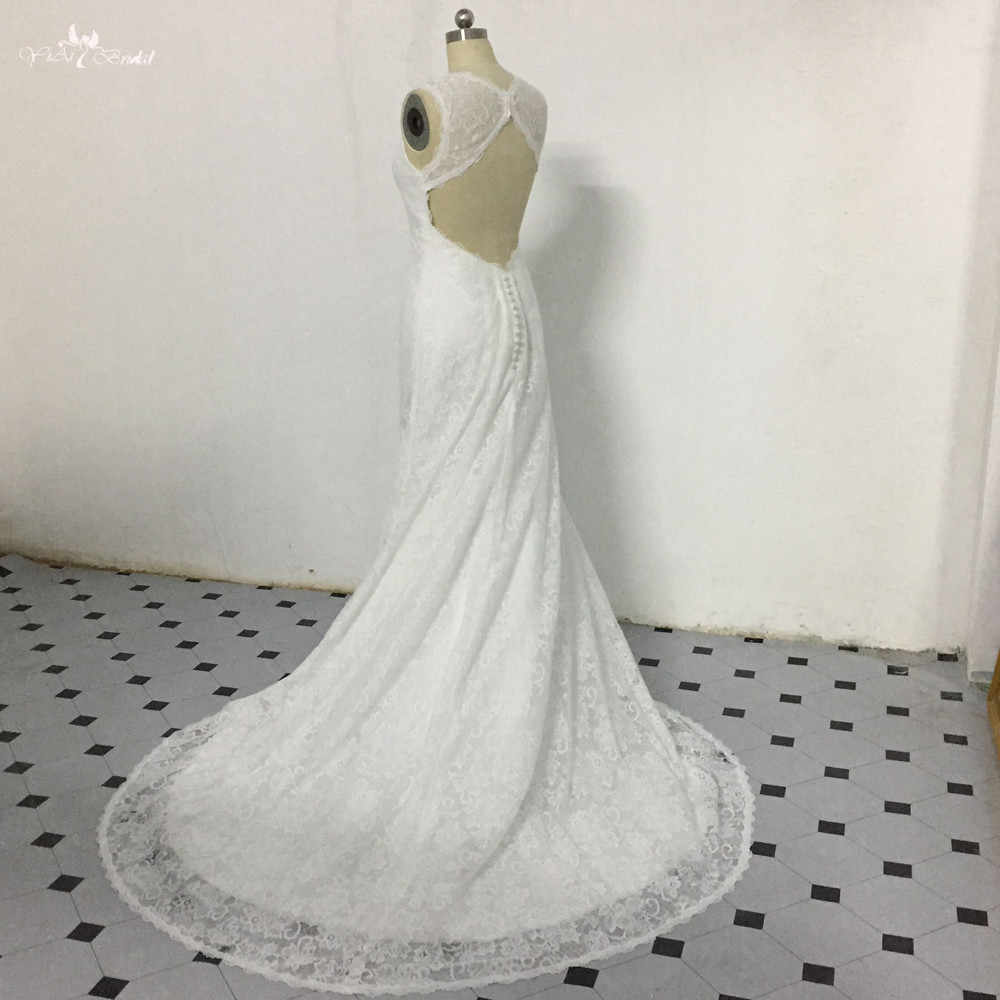 Detail Feedback Questions about LZ281 Ivory Sleeveless Wedding Dress  Vestido De Noiva Simple Backless Bridal Dresses Lace Beach Dress on  Aliexpress.com ... ca18e33d9f75