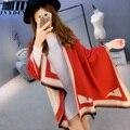 Diseñador de las señoras Bufandas de Alta Calidad Monster Imprimir Infinito Bufanda Mujeres Bufanda de Marca de Lujo de Espesor Invierno Cálido Imitación de la Cachemira