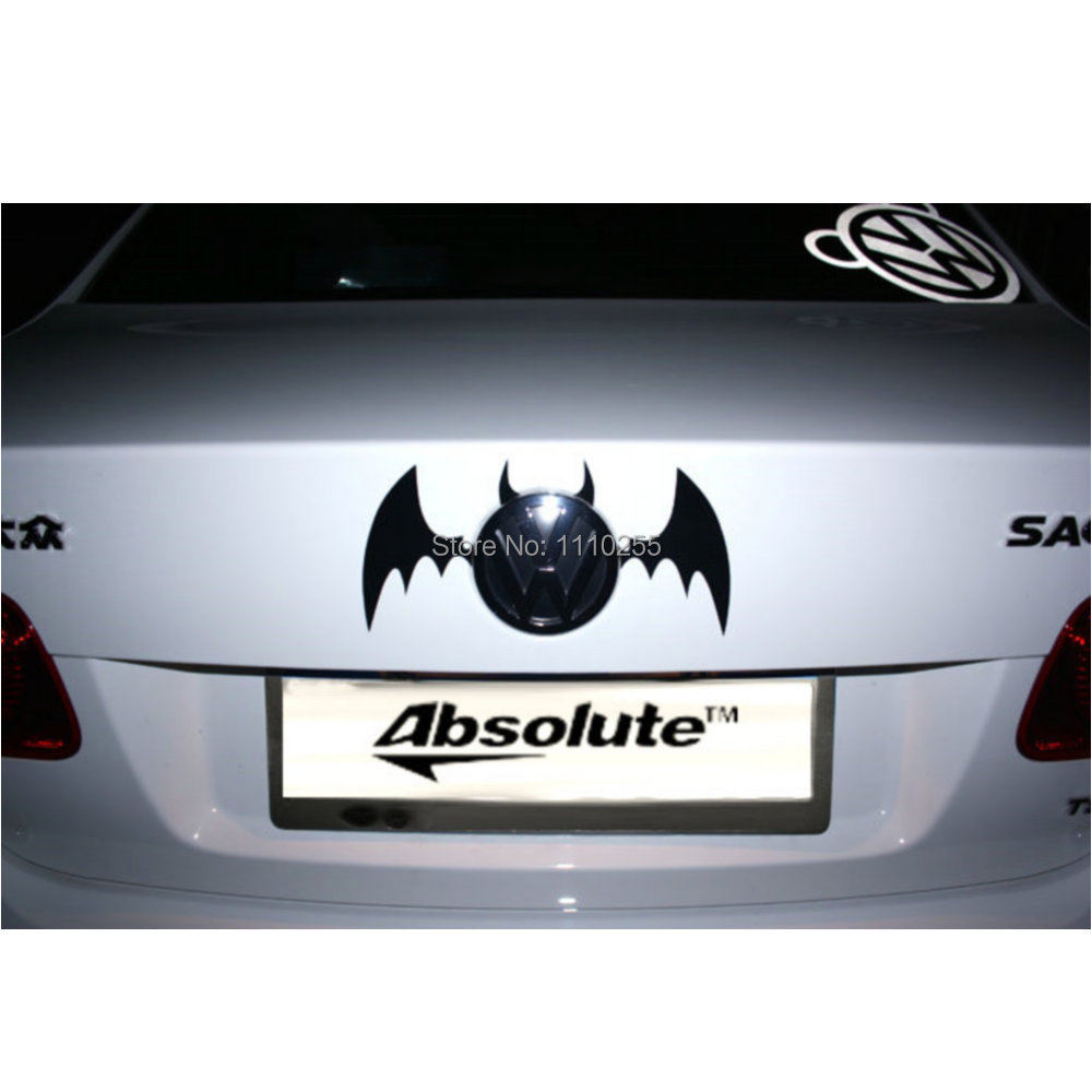 Aliauto Car-styling Funny Bat Car Sticker And Decal Logo Accessories for Toyota Ford Volkswagen polo Honda BMW e39 e46 Benz Lada