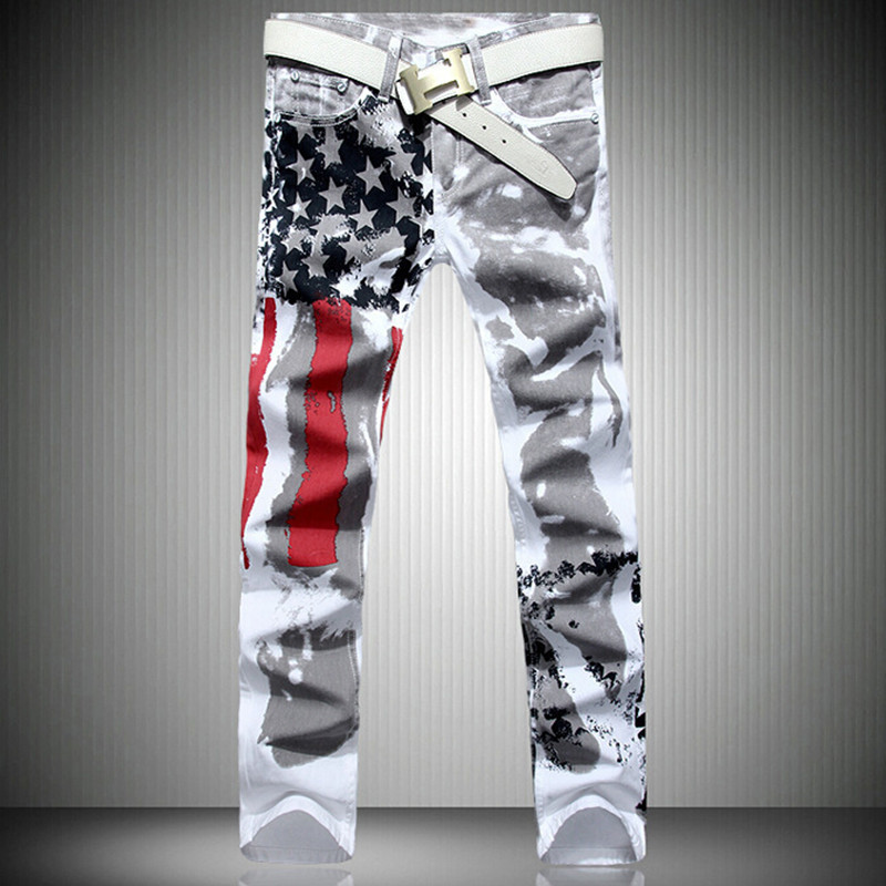 online kaufen gro handel herren amerikanischer flagge jeans aus china herren amerikanischer. Black Bedroom Furniture Sets. Home Design Ideas