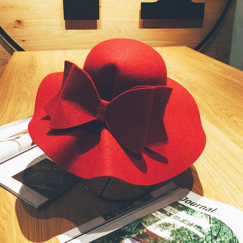 5cefdfe51cd9d 2017 New Australia Wool Felt Hat England Women Fedora Hat Wide Brim ...