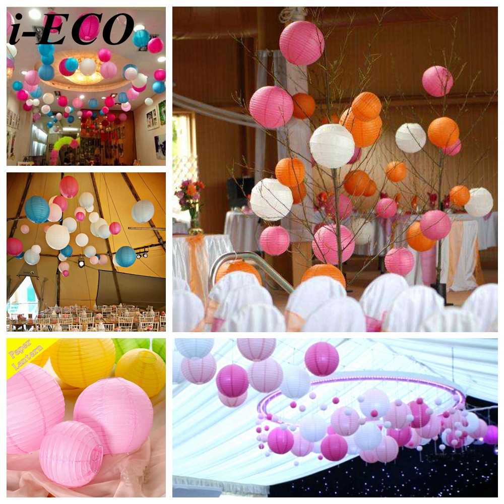 Paper Lanterns Wedding Decoration Ideas: 10PCS 10inch DIY Paper Lantern Paper Lampion Ball Handmade