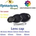 Front Lens Cap Snap-on Cover for dslr camera 43mm 49mm 52mm 55mm 58mm 62mm 67mm 72mm 77mm 82mm lens cap for canon for nikon