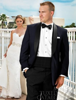 Black Wedding Suits For Men,Bespoke 1 Button Black Shawl Lapel Black Tuxedo Jacket and Black Pants,Tailor Off-White Groom Suit