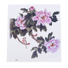 Благородный цветок водостойкие наклейки для татуировки Женская Татуировка прочный Грудь назад пот-доказательство элегантная татуировка в форме цветка татуировки наклейки