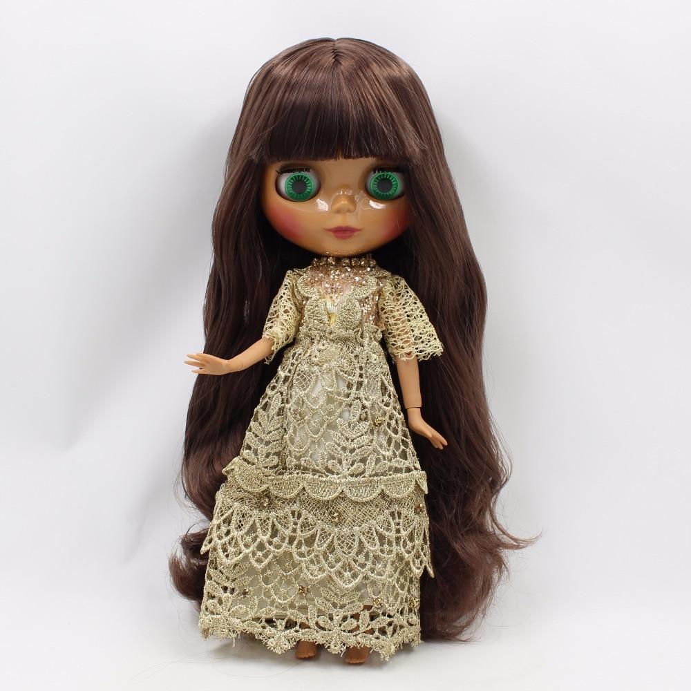 Fabriek blyth pop bruin haar met pony of zijscheiding haar donkere huid joint body 30cm-in Poppen van Speelgoed & Hobbies op  Groep 3