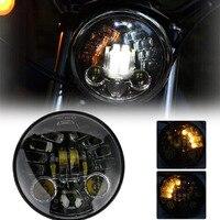 70W 5.75 Inch Projector 883 Headlight White DRL Yellow Turn signal lights For Harley Yamaha V Star XVS 250 650 950 FXDX