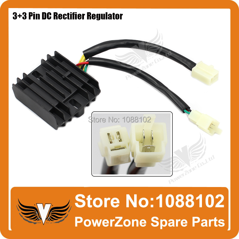 12V 3+3 6 Pins wires DC Fired Voltage Regulator Rectifier CG CB ...