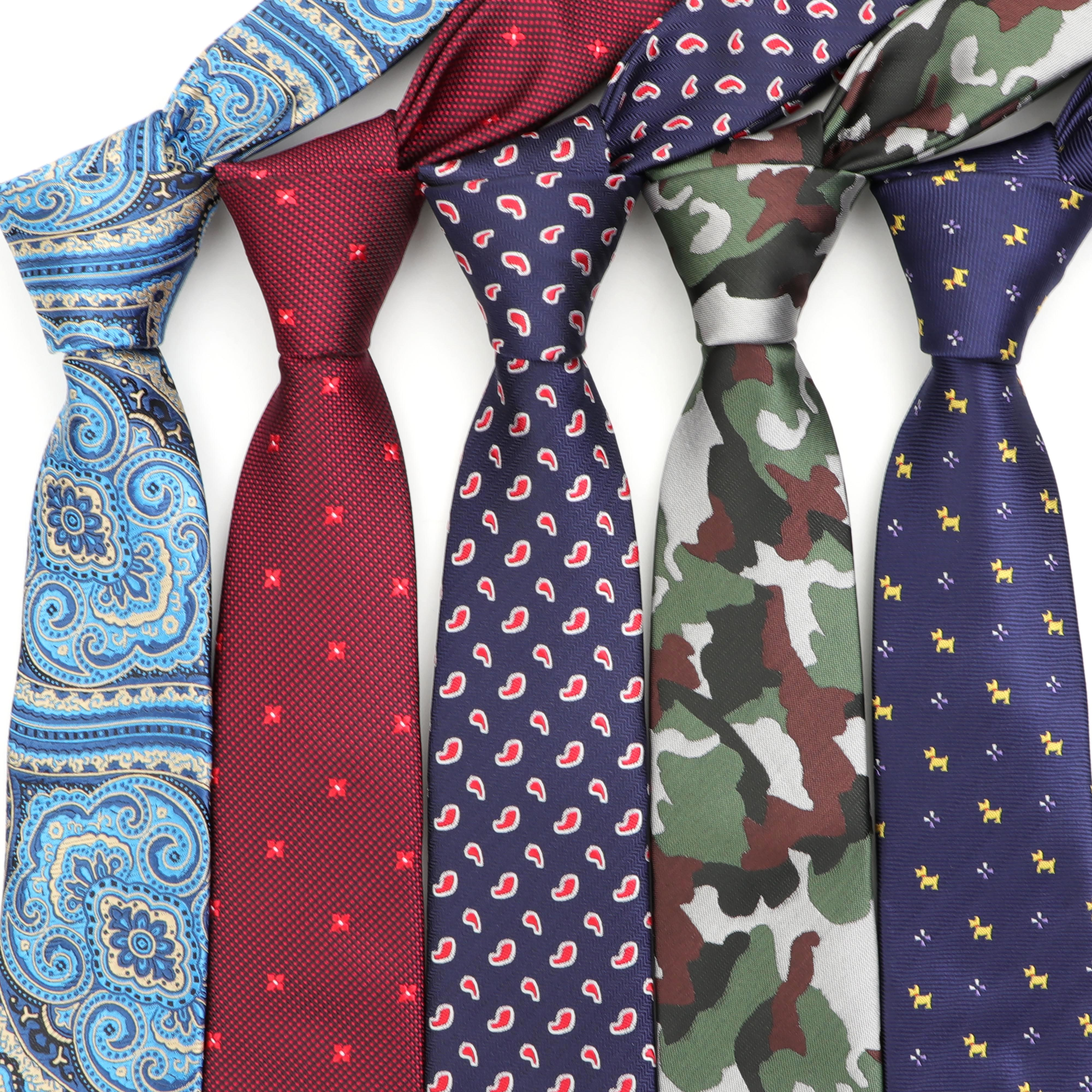 New Jacquard Woven Neck Tie For Men Wedding Business Classic Ties Fashion Polyester Slim Mens Necktie Camouflage