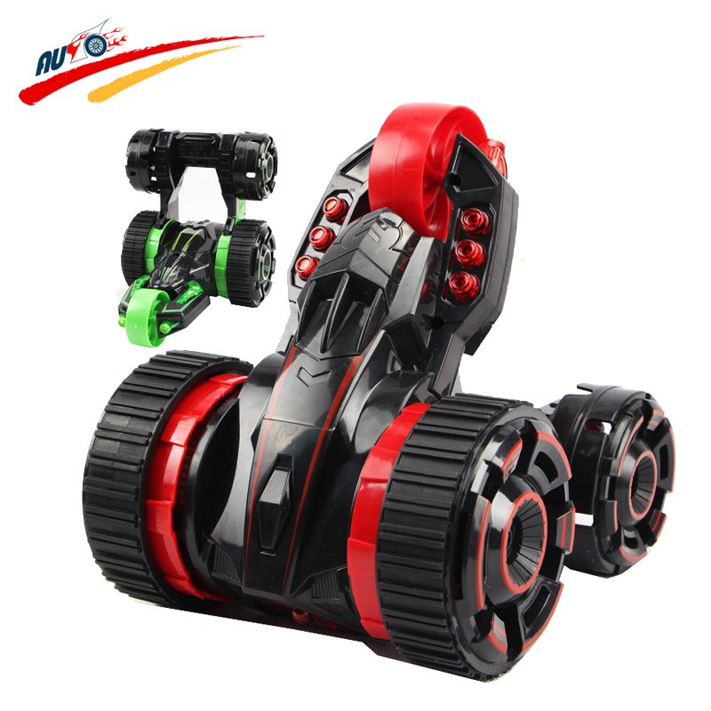 Wireless RC Car <font><b>5</b></font> Wheels Special Stunt 360 Degree Spin And Rotation Double-Side High Speed Racing Car Light Radio Electric Toy