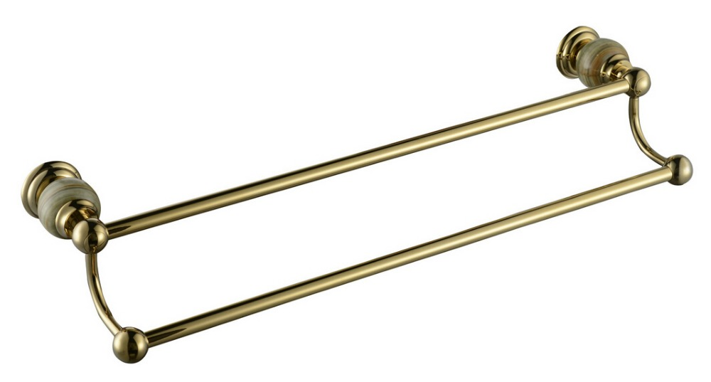 Free shipping Brass & stone Made,PVD-Ti Gold, Towel Bar,Towel Holder, Towel Rack ,Solid Gold CY003-1S free shipping brass & stone golden towel rack gold towel bar towel holder cy008s