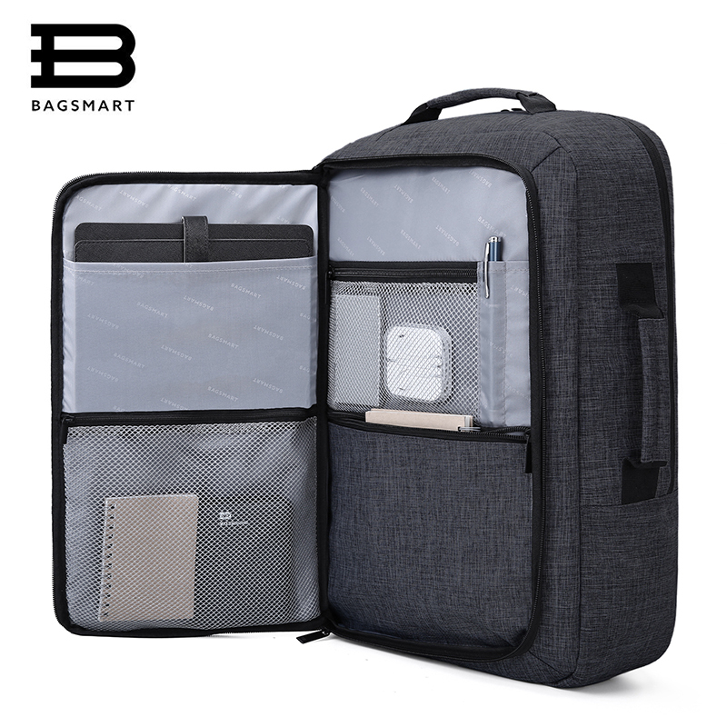 BAGSMART New Men Travel Bag Bolsa Mochila for 15.6 Inch Laptop Rucksack School Bag Travel Backpack Multifunctional Bakpack bagsmart new men laptop backpack bolsa mochila for 15 6 inch notebook computer rucksack school bag travel backpack for teenagers