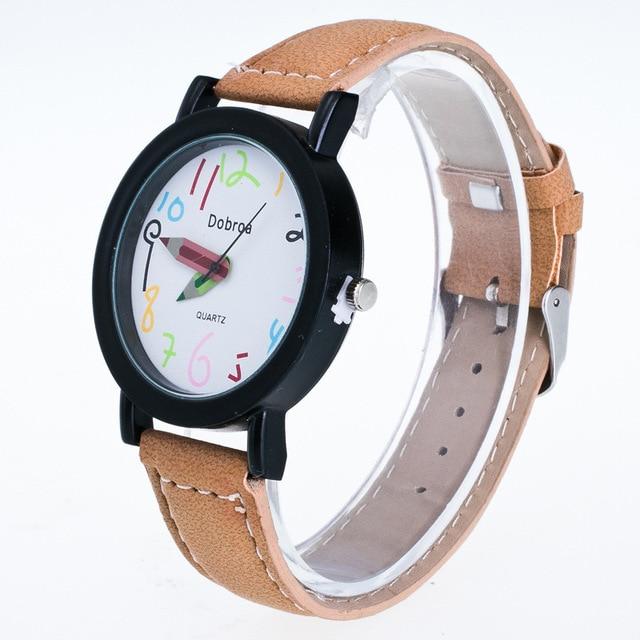 Hesiod New School Quartz Watches Fashion Casual Women Children Leather Watch Pencil...