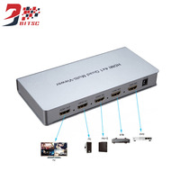 SZBITC HDMI Switcher 4x1 Seamless Switch 4 In 1 Out Quad Multi viewer 1080P/60hz with four HD screen 4HD digital video signal