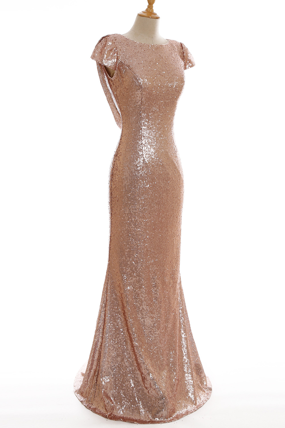 Aliexpress.com : Buy Cheap Real Image Rose Gold Sequin Dress to ...