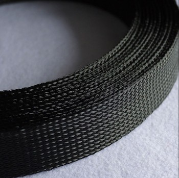 14MM 16MM 18MM 20MM 25MM 30MM 35MM 40MM 60MM 100MM black Flat PET Sleeves Braided Expandable Cable Wire nylon Snakeskin Sleeving