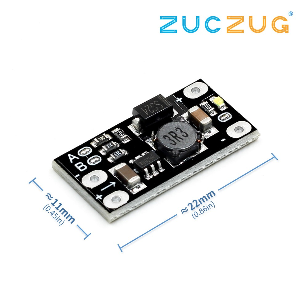 Newest Multi-function Mini Boost Module Step Up Board 5V/8V/9V/12V 1.5A LED Indicator Diy Electronic High Quality