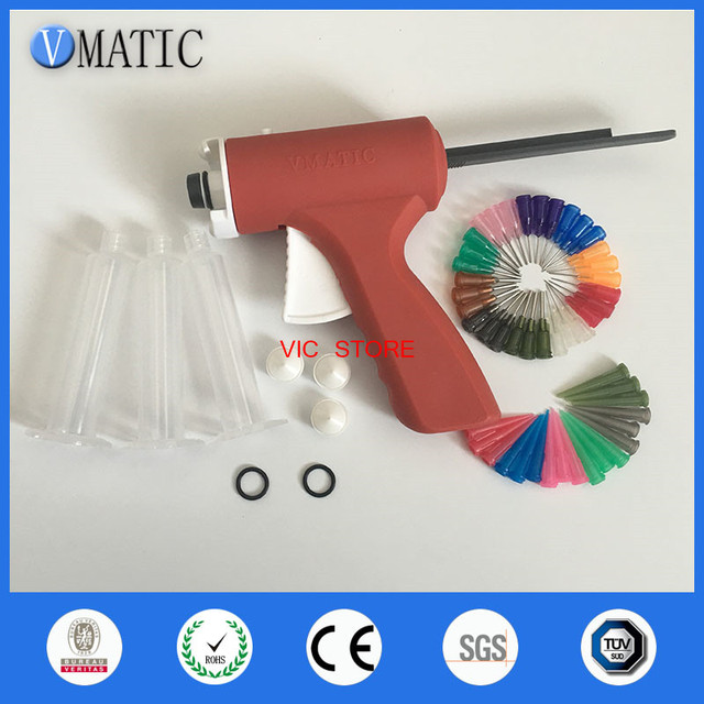 Free Shipping Quality UV Syringe Dispenser Glue Gun Liquid Clear Adhesive Caulking Gun 10cc/ml With Syringe And Needles