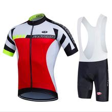 2017 fastcute Bicycle Wear Ropa Ciclismo/Red blue white  Maillot Cycling Clothing bicycle jersey/MTB Bike uniform Cycling Jersey