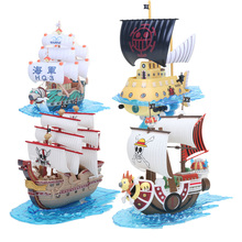 Figura de ação de barco modelo de barco, anime, figura de brinquedo colecionável, milhares de brinquedos sunny, pirata, navio, pvc