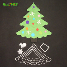 RLJLIVES Christmas Tree Metal Cutting Dies Stencils for DIY Scrapbooking Photo Album Decorative Embossing DIY Paper Card(China)