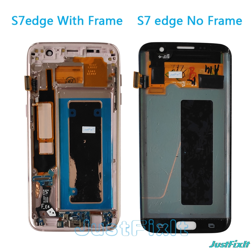 Original For Samsung Galaxy S7 edge G935F Big Shadow lcd display with touch screen Digitizer 5