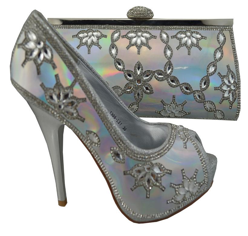 Open toe heels platforms fashion womens shining diamond wedge Italian  design shoes and bag set free shipping 1308-L31 fuchsia 6cadbc2e9bed