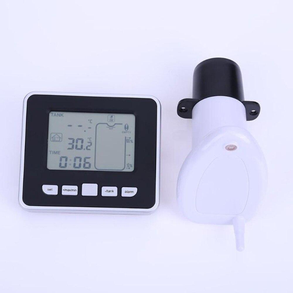 Wysokiej jakości termometr ultradźwiękowy wskaźnik poziomu wody wskaźnik poziomu w zbiorniku z krytym temperatury cieczy wyświetlacz temperatury w Wskaźniki temperatury od Dom i ogród na  Grupa 1