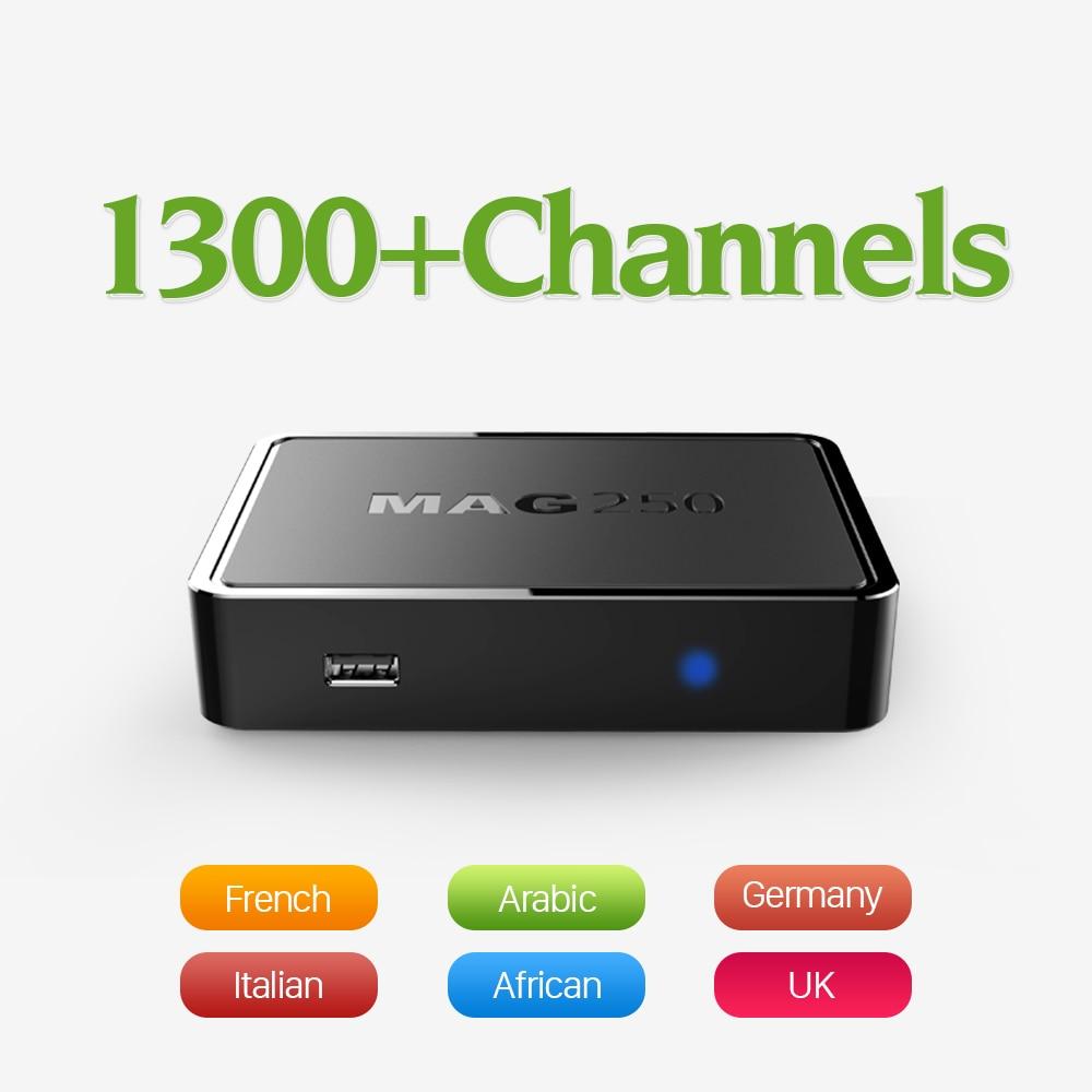 MAG 250 Linux IPTV Set Top Box 1 jahr Abo-geb QHDTV option...