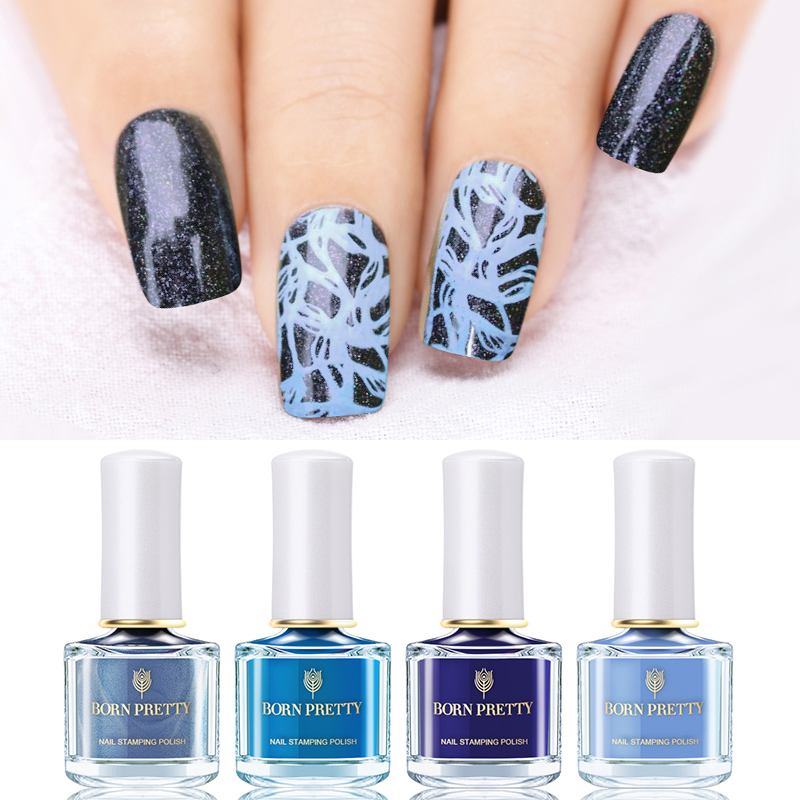Beauty & Health Nails Art & Tools Good Born Pretty 6ml Stamping Polish Lacquer Gold Silver Nail Art Plate White Night Stamping Series 5 Colors Nail Polish Fashionable And Attractive Packages