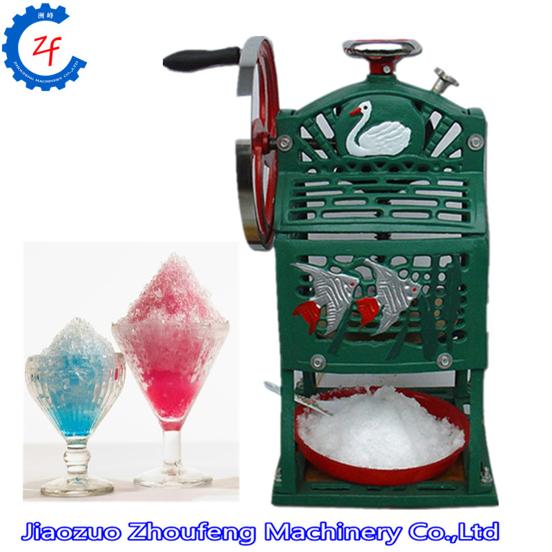 Commercial ice shaver snow cone maker ice crusher block shaving machine hand driven ice crusher commercial and home use crushed ice machine zf